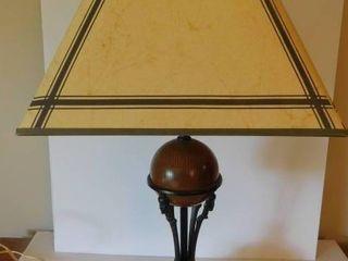 Wood   Wrought Iron lamp