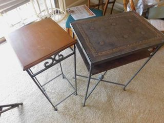 2 Accent Tables Plant Stands