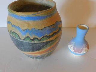 2 Pottery Vases