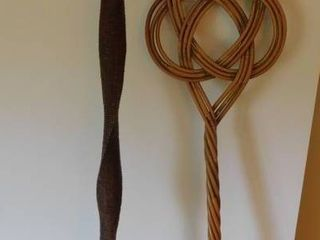 Walking Stick and Vintage Rug Beater