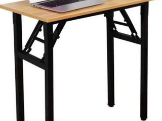 Need Small Desk 31 1 2  Width Folding Desk No Assembly Required  Sturdy and Heavy Duty Desk for Small Space and laptop Desk