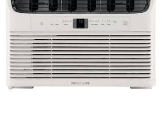 Frigidaire 8 000 BTU 115 Volt Window Mounted Mini Compact Air Conditioner with Temperature Sensing Remote Control  Box is damaged but still have factory seal