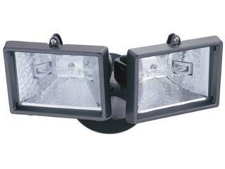 lithonia OFTM 300Q 120 lP BZ M6 Mini Twin Head Flood light 150 Watt Double Ended Quartz Halogen lamps