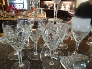 34 fine crystal water goblets