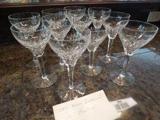 11 crystal stemware