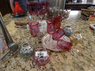 Beautiful red stemware
