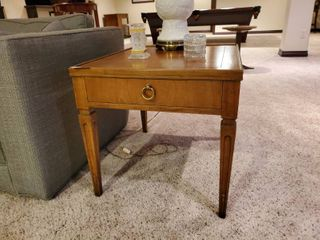 Very fine solid wood Baker Furniture end table