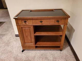 Romweber Furniture  solid wood server bar cabinet on wheels