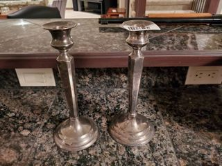 Pair of restoration hardware candle holders