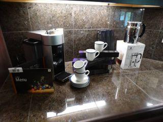 Nespresso Vertuoline machine w  pods   cups