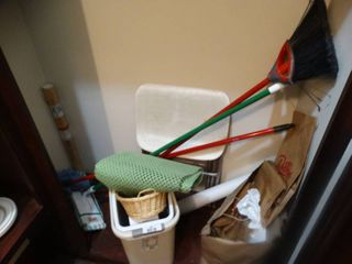 Mops brooms  cleaning supplies
