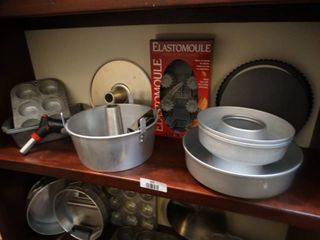 lot of assorted baking items