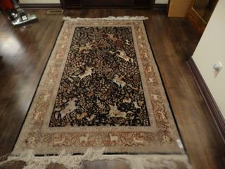 Fabulous silk area rug  High end rug  54  x 91
