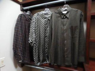 3 designer shirts