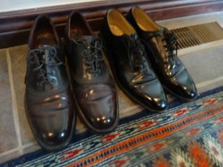 2 pairs designer mens dress shoes  size 11