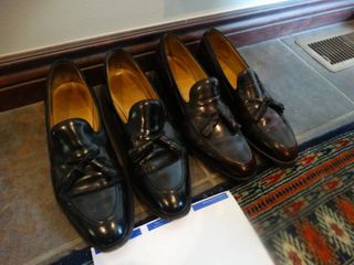 2 pairs designer mens dress shoes  size 11 1 2