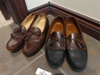 2 pairs designer mens dress shoes  size 12