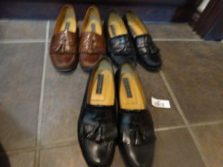 3 pairs designer mens dress shoes  size 11 1 2