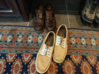2 pairs of shoes  1 pair of Sperry s