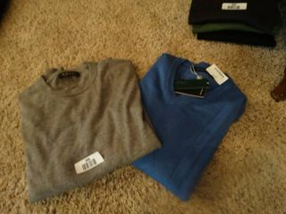 2 designer shirts 1 is new with tags