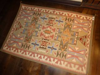 Excellent woven Wool rug  59  x 42  Kilim Rug