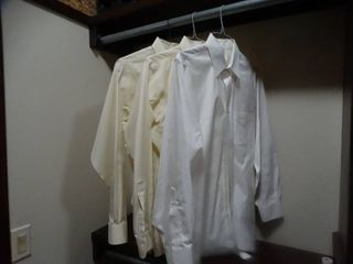 3 pairs designer mens button up dress shirts  Brooks Brothers