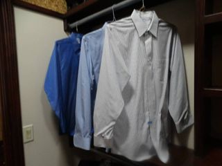 3 pairs designer Men s button up dress shirts