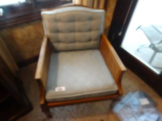 Vintage padded wood bedroom chair  Good condition