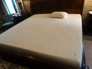 King size Tempur pedic memory foam mattress set w  2 very nice box springs   memory foam pillow  EXCEllENT shape