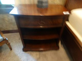 Gorgeous pair of solid wood nightstands w  drawers