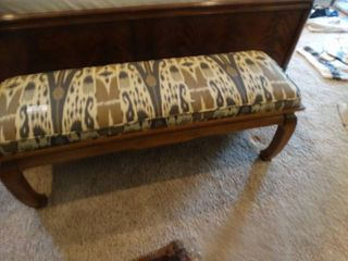 Padded wood bench