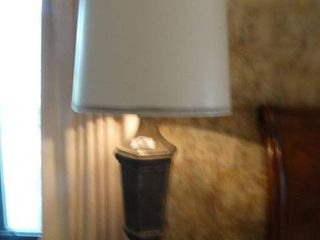 Amazing pair of large table lamps w  shades