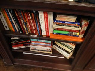 large lot of assorted cook books