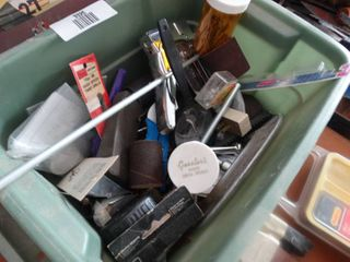 lot of assorted gun cleaning items