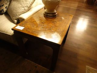 Absolutely Fabulous Solid wood John Widdicomb end table w  intricate carved top