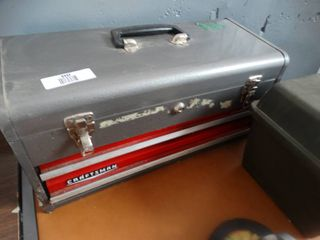 Metal toolbox w  contents