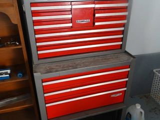 Craftsman toolbox set  Top   bottom box w  various tools