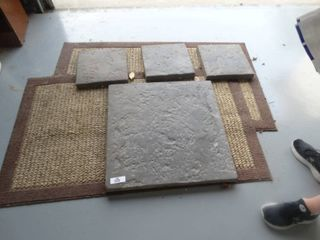 2 floor mats   3 concrete stepping stones