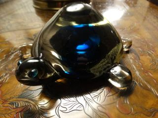 Blown glass turtle