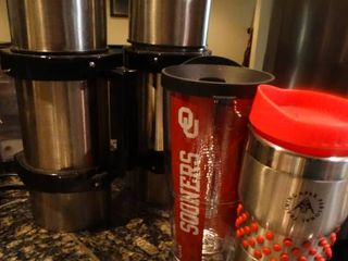 2 coffee thermos   2 insulated drink cups