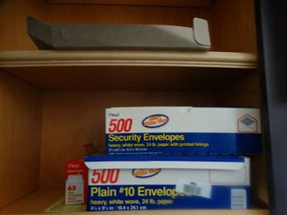 lot of envelopes   file folders