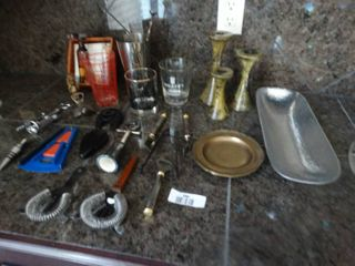 large lot of assorted bar ware