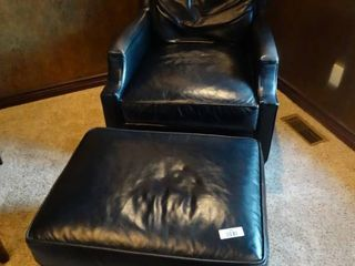 leather Pearson furniture chair   ottoman set