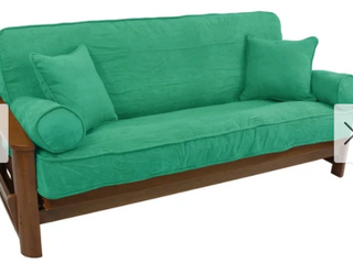Blazing Needles full size Teal 5 piece Microsuede Futon Cover Set Futon NOT INcluded