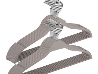 lot of   Elong Home Rubber Coating Plastic Clothes Hangers Grey