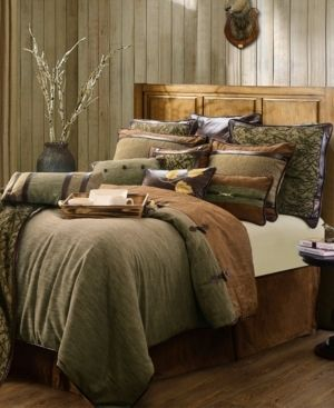 HiEnd Accents Highland lodge Collection Brown 5 piece Comforter Set Retail 318 99