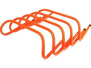 Crown Sporting Goods 6 inch Speed Agility Training Hurdles  Pack of 5