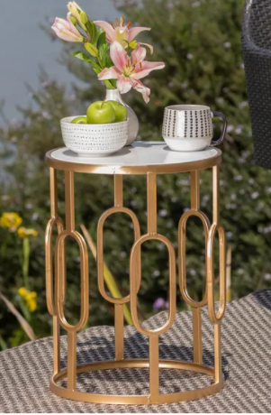 Drexel Outdoor Faux Stone Side Table