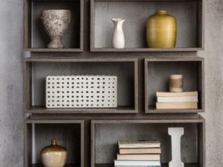 Furniture of America Niti Rustic Grey 1 shelf Open Bookcase Retail 309 49