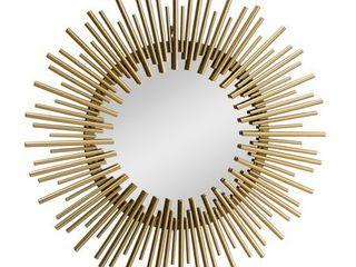 Sunjoy Decorative Gold Wall Art Mirror